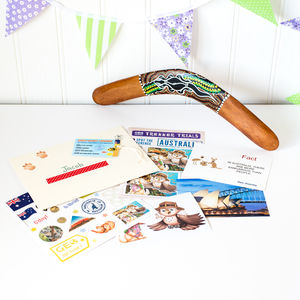Learn About Australia Set With Boomerang - toys & games