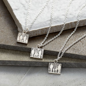 Little Personalised Silver Family Necklace - necklaces & pendants