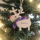 Personalised Christmas Rudolph Reindeer Decoration