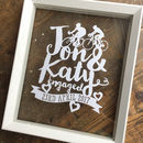 Engagement Names And Date Papercut