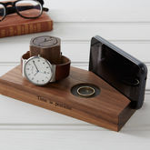 Personalised Bedside Watch And Phone Stand - men's jewellery