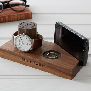 Personalised Bedside Watch And Phone Stand - storage & organisers