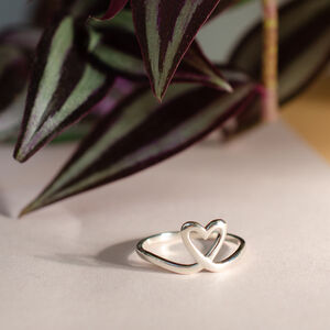 Silhouette Love Heart Stacking Ring
