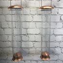 Attractively Styled Copper Nut Feeders Set Of Two