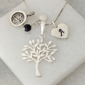 Personalised Tree Of Life Necklace With Birthstone - women's jewellery