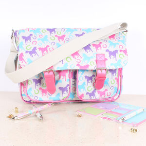 Playful Ponies Satchel - bags, purses & wallets