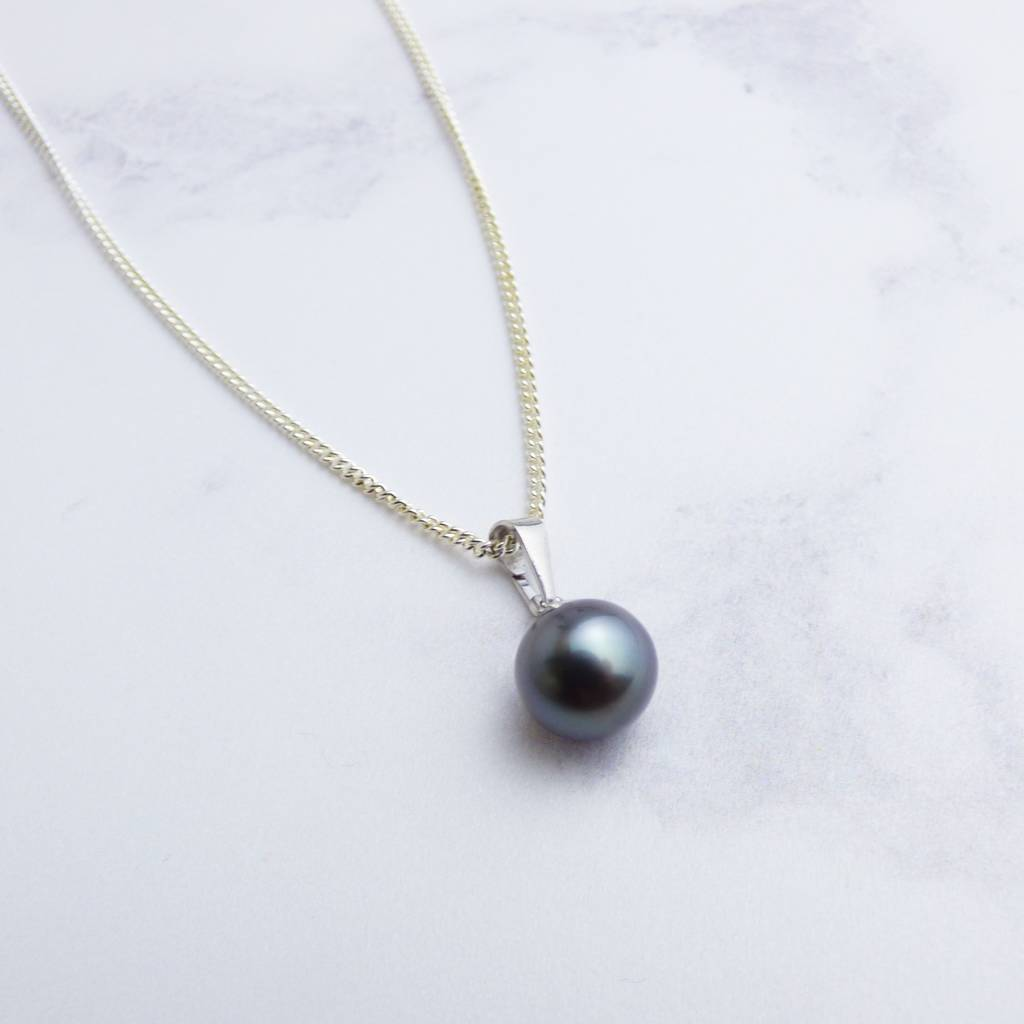964f65d9a black tahitian pearl pendant on silver by kirsty taylor goldsmiths ...