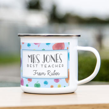 Personalised Teacher Enamel Mug