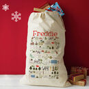 Personalised Christmas Gift Sack - love christmas design