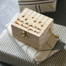 Personalised How Loved You Are Mini Music Box