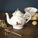 Trapeze Small Bone China Teapot