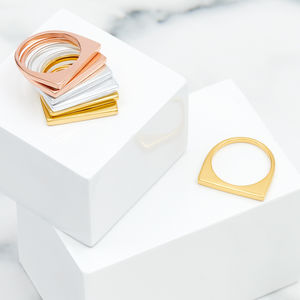 Gold Geometric Stacking Ring Minerva - new season