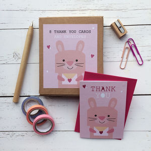 Children's Mini Thank You Cards Bunny