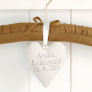 Personalised Bridesmaid Heart - lavender bags