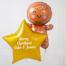Personalised Gingerbread Man Inflated Foil Bunch