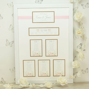 Charlotte Framed Wedding Table Plan - table decorations
