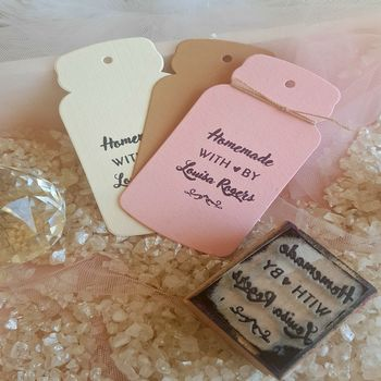 Homemade With Love Personalised Rubber Stamp