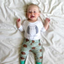 Organic Hedgehog Baby Leggings