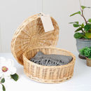 Medium Wicker Hat Box Gift Hamper Box