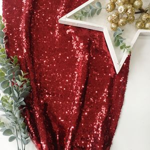 Christmas Berry Red Sequin Table Runner - tableware