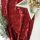 Christmas Berry Red Sequin Table Runner