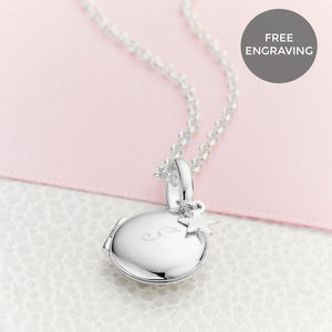 Personalised Sterling Silver Small Lulu Locket - jewellery gifts for children