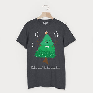 Rockin Around The Christmas Tree Unisex T Shirt - christmas t shirts