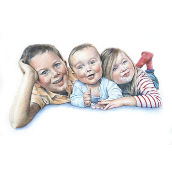 Personalised Family Child Portrait Drawing