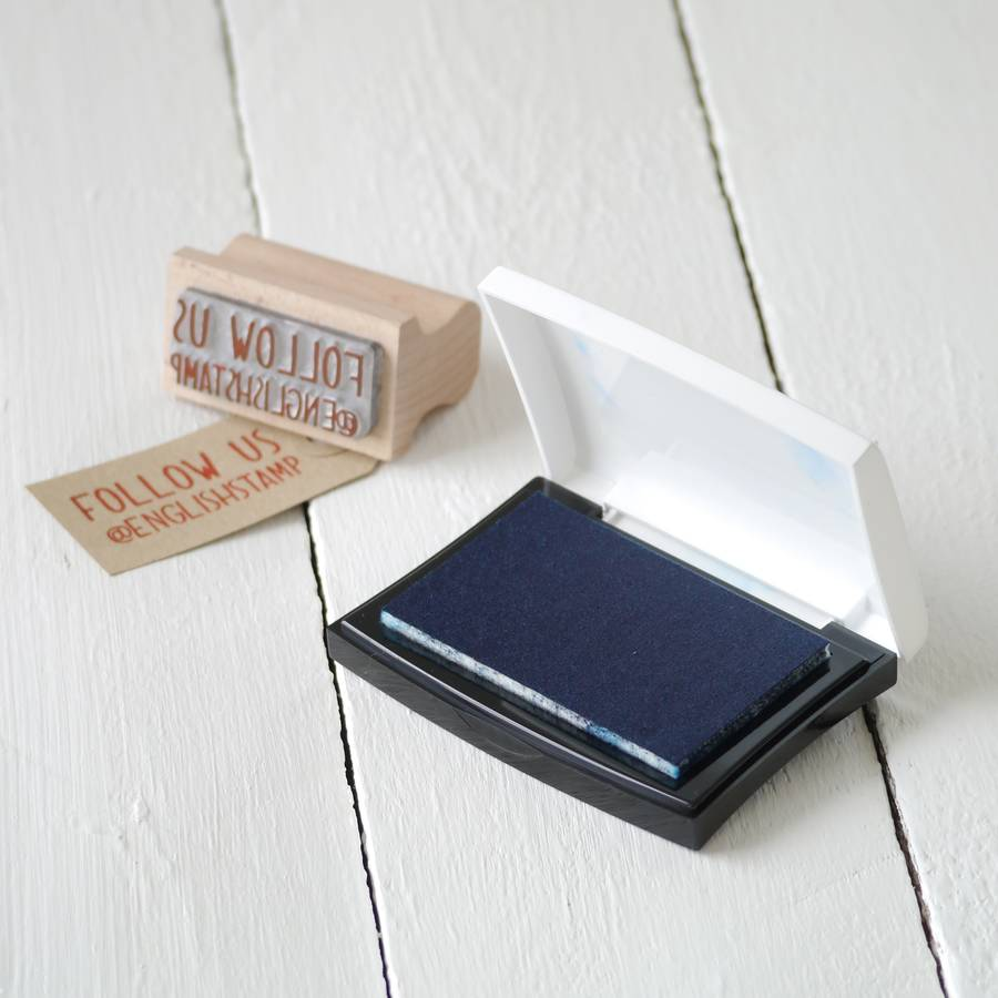 Business card stamp by english stamp company notonthehighstreet business card stamp colourmoves