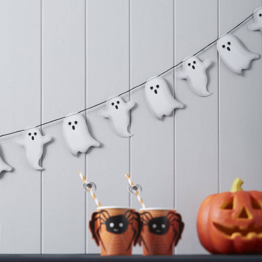 Spooky Ghost Halloween Garland Bunting Decoration