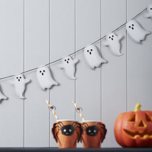 Spooky Ghost Halloween Garland Bunting Decoration - party decorations