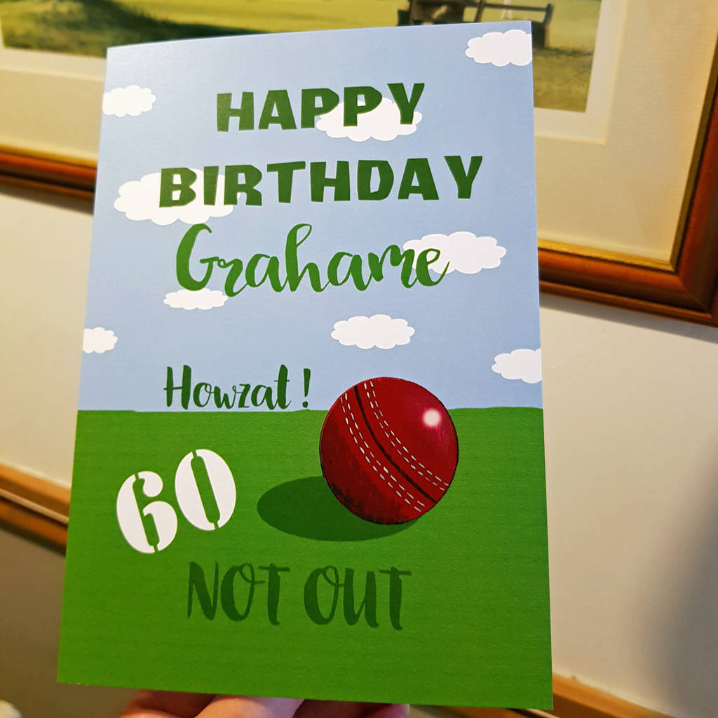 Cricket 50th 60th 70th A5 Birthday Card By Giddy Kipper
