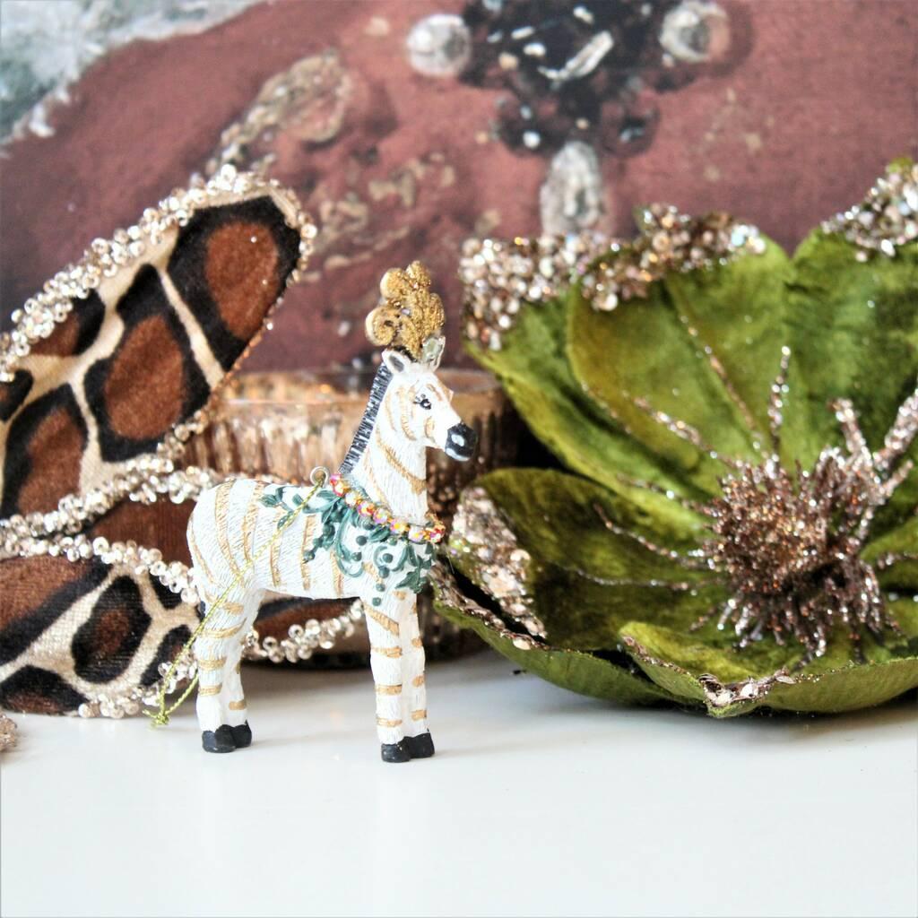 exotic zebra christmas tree decoration by ella james ...