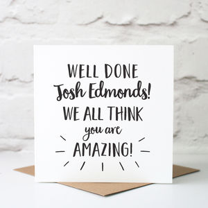 Personalised Well Done Card - shop by category