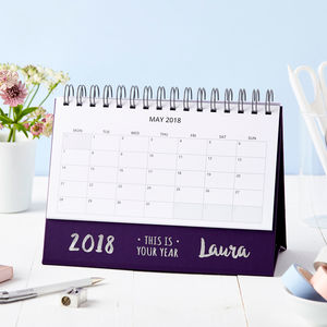 Personalised 'This Is Your Year' Desk Calendar
