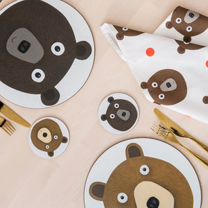 Mister And Miss Bear Placemats - tableware