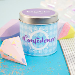 'Confidence' Sea Breeze Scented Candle In A Tin - candles & home fragrance