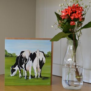 Cheek To Cheek Two Cows Valentine's Card