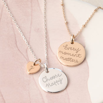 Personalised Motto Necklace