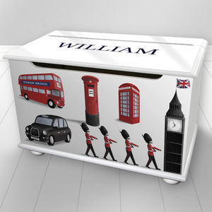 Toy Box With A London Design - toy boxes & chests