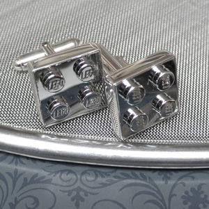 Executive Building Block Cufflinks In Sterling Silver - mens