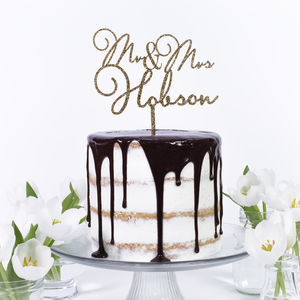 Personalised 'Mr & Mrs' Cake Topper - cake decoration