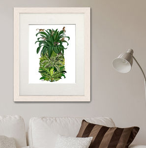 Monkey Pineapple Print - canvas prints & art