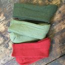 Howgill Walking Socks - from the top: dark green, light green, red
