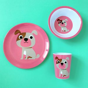 Cute Bulldog Melamine Tableware
