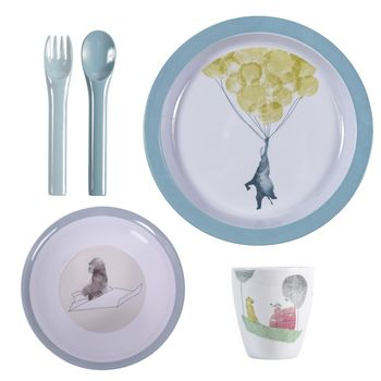 Five Piece 'In The Sky' Melamine Dinner Set