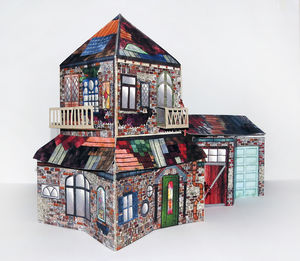 3D Pop Up House In A Book Sculpture