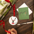 Personalised Christmas Reindeer Place Setting