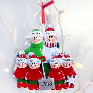Family Personalised Christmas Decoration With Shovel - tree decorations