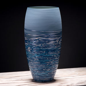 Large Ceramic Curved Vase Coast Series - flowers, plants & vases